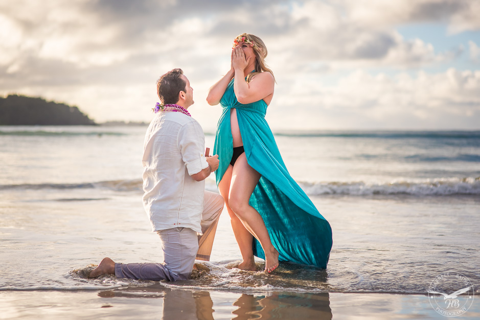Surprise proposal in the water.