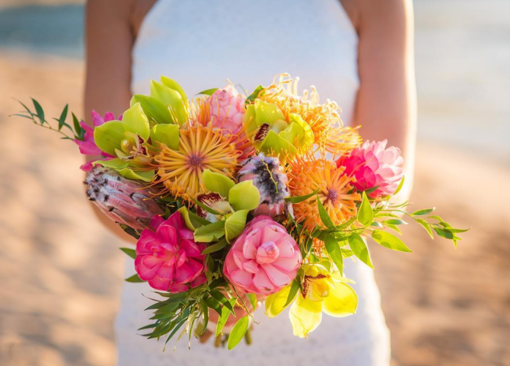 Bride's flower bouquet.