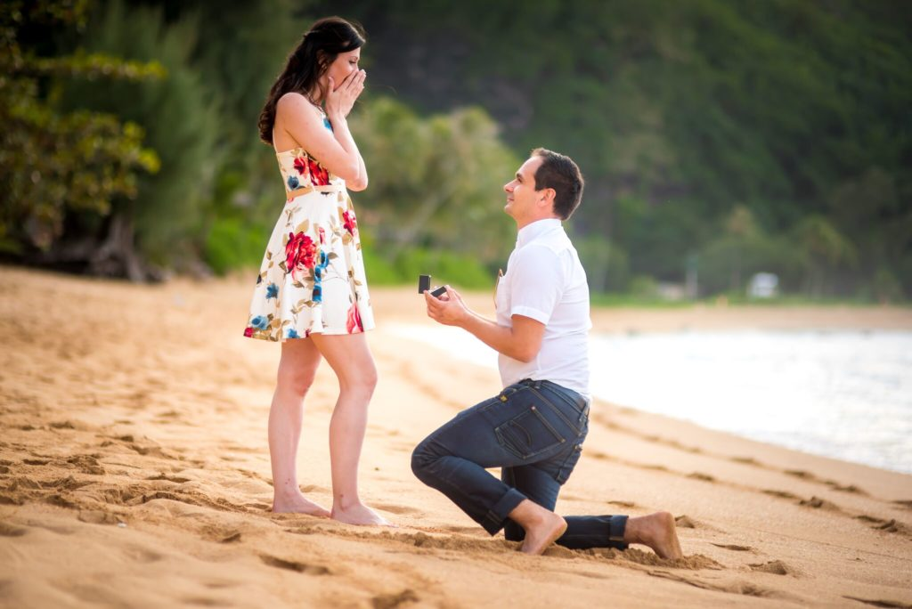 Beach proposal on Kauai.