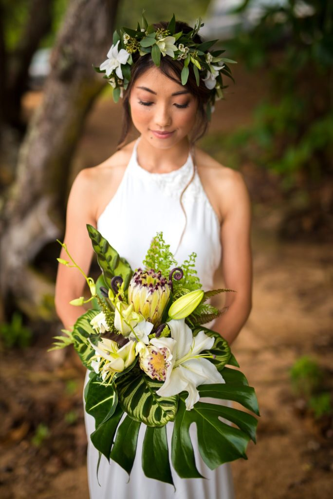 Bride on Kauai.