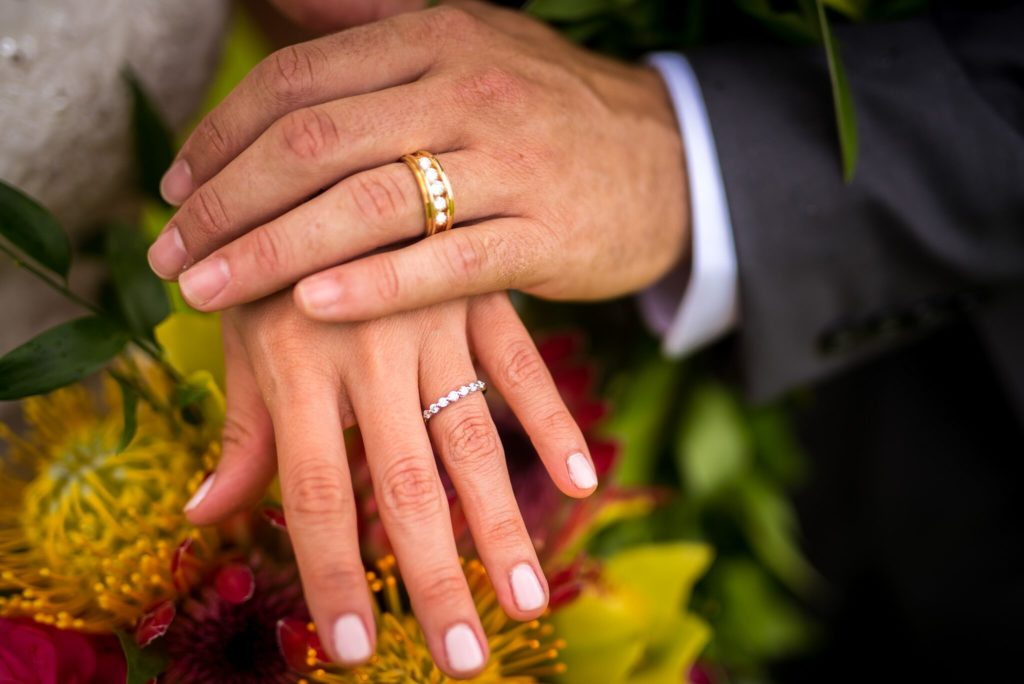 Rings on married hands.