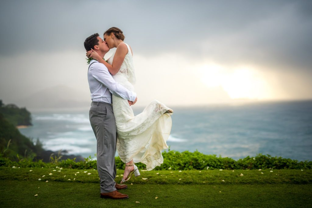 North Shore Kauai wedding.