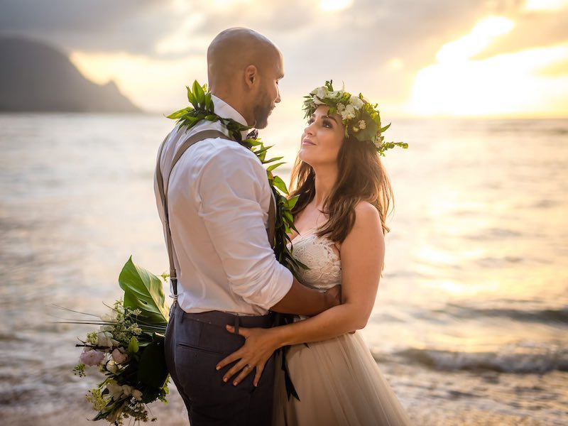 Elopement wedding on the island of Kauai.