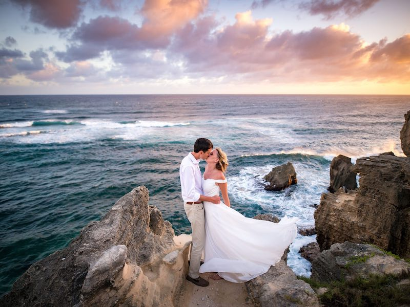 Epic beach elopement wedding on Kauai, Hawaii.