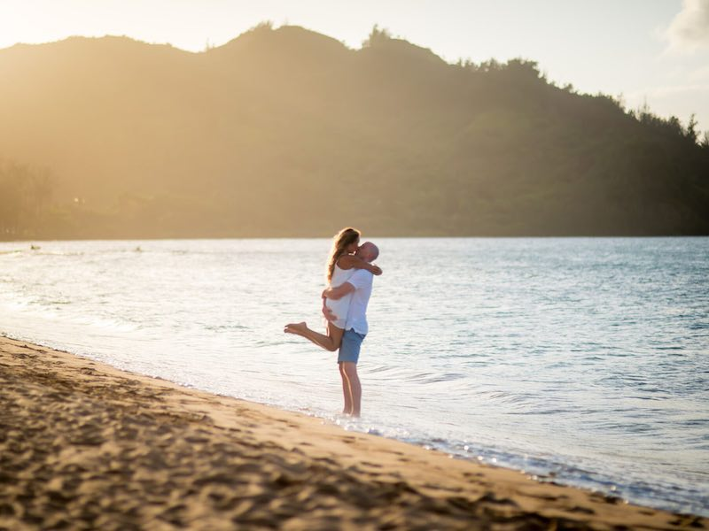 Surprise wedding proposal on Kauai.